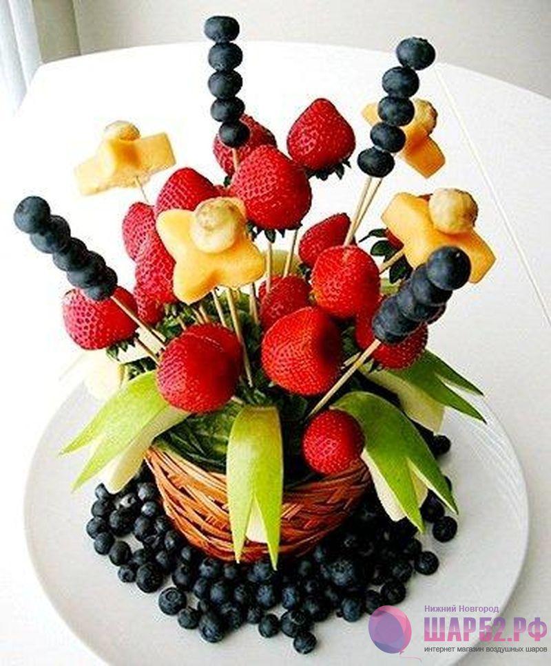Букет из фруктов своими руками пошагово