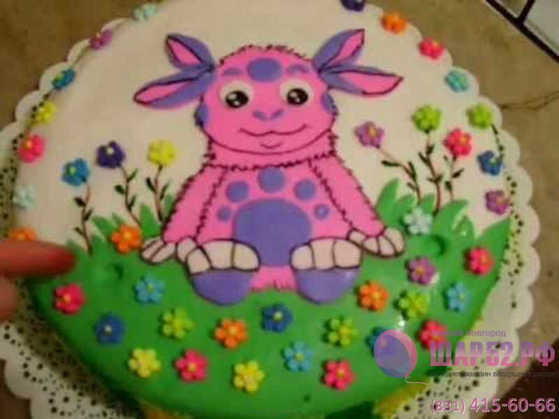 Торт Лунтик - Работа с Сахарной Мастикой смотреть бесплатно рецепт приготовления мастики для торта.